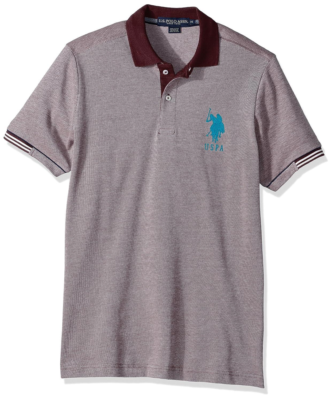 Us Polo Assn Mens Classic Fit Color Block Short Sleeve Pique
