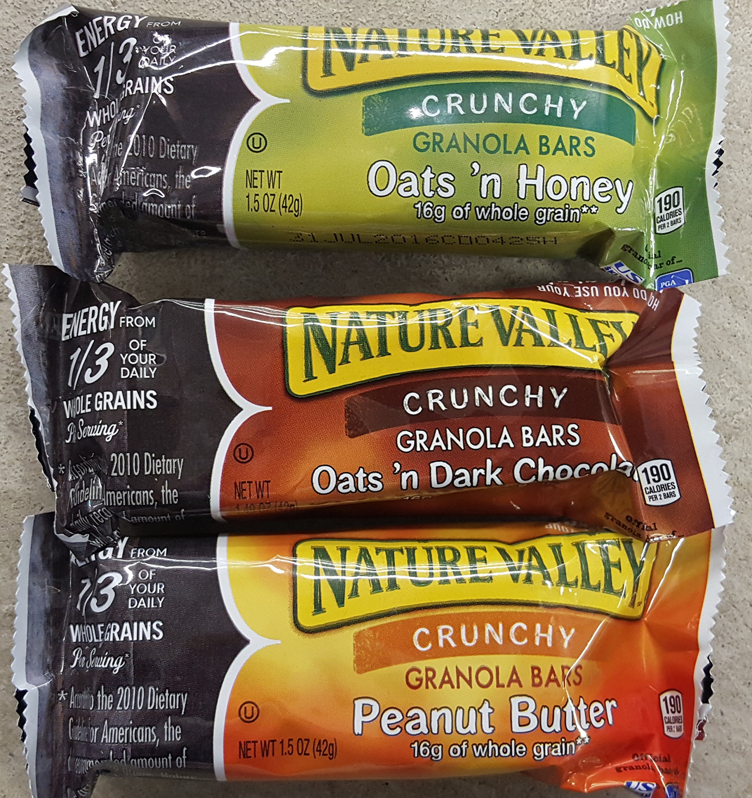 Nature Valley Granola Bars Variety Pack, 30 Pouches, 2 Bars per Pouch = 60 Bars