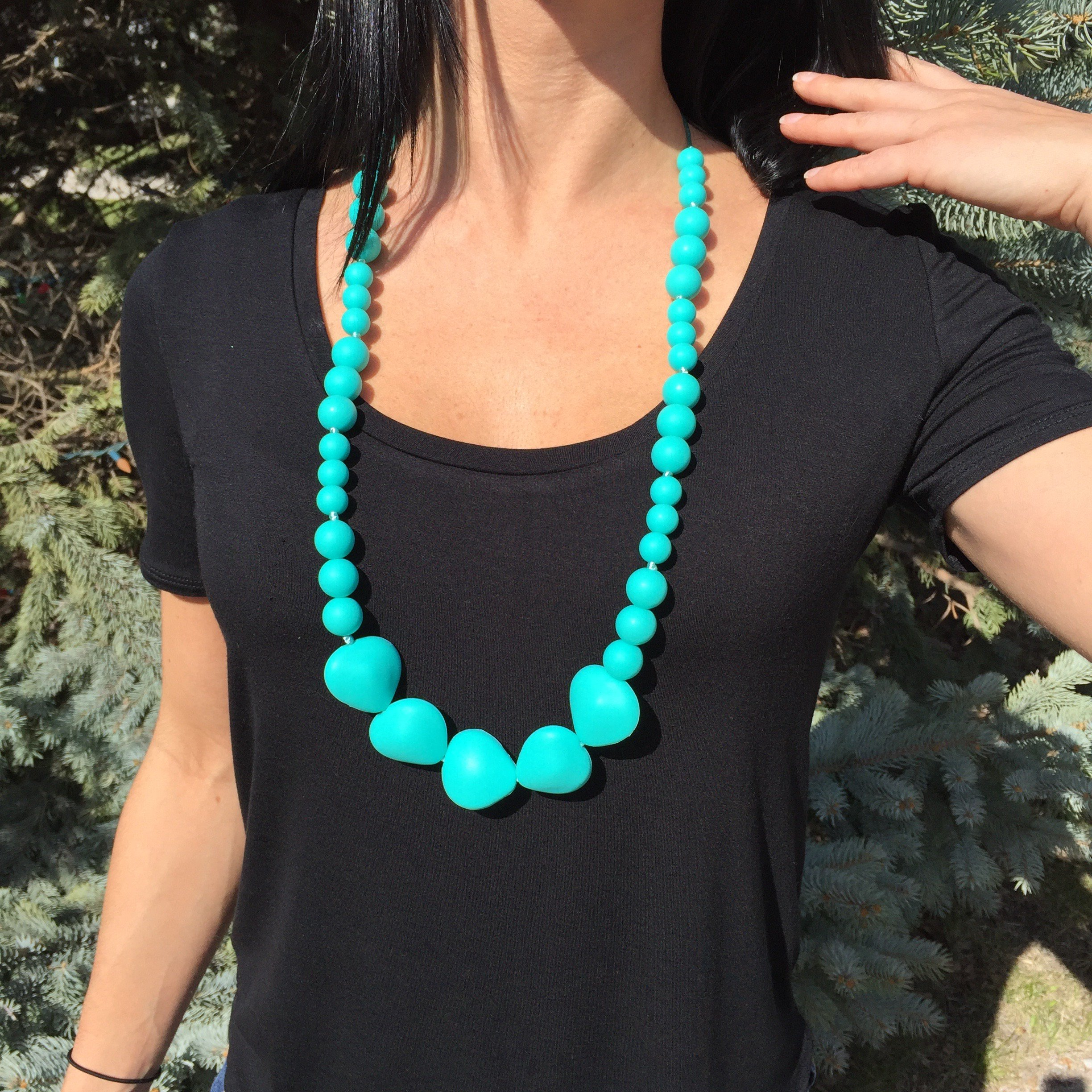 ''Westwood'' Teething Necklace by Toogli (turquoise)