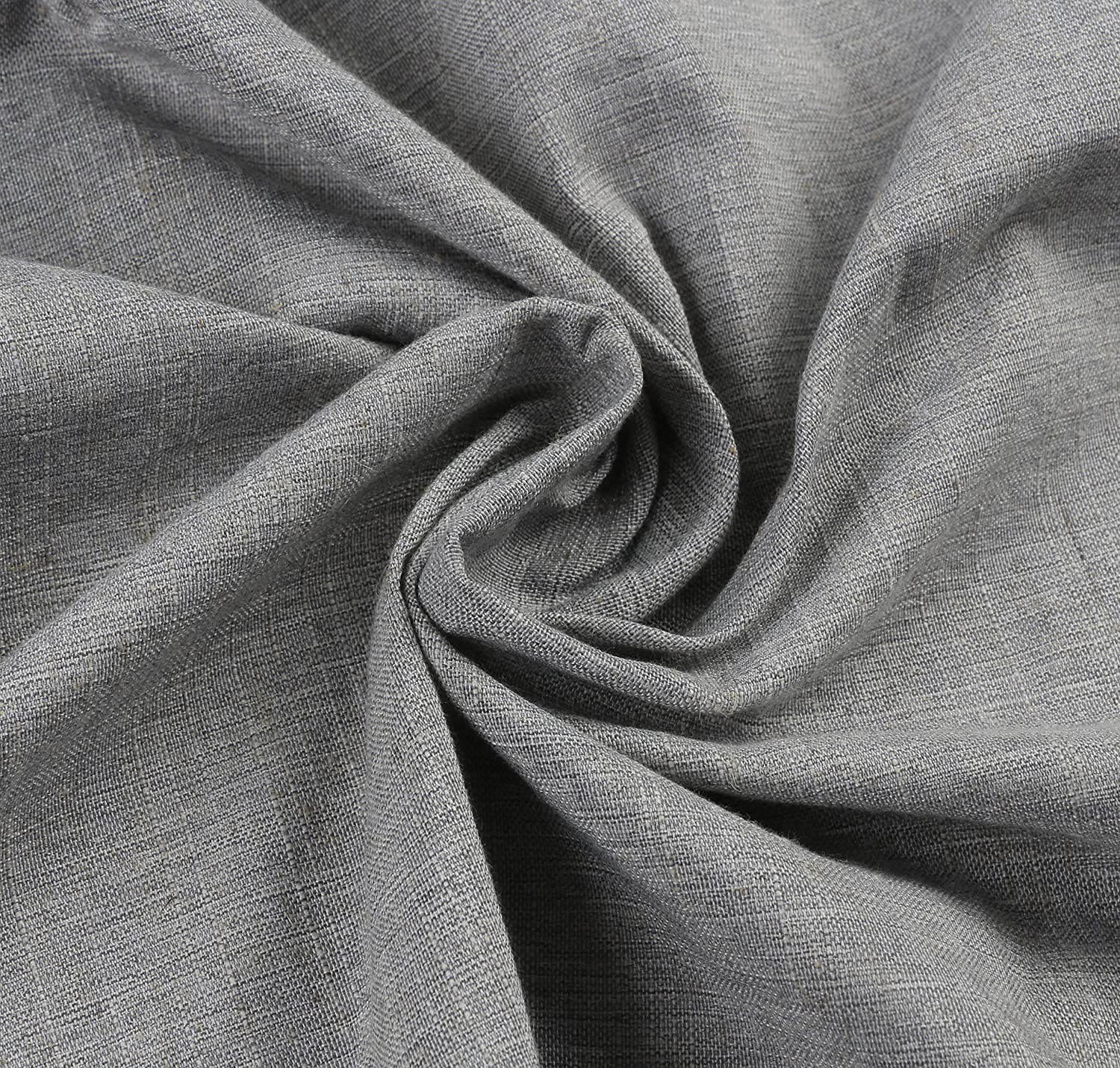 Homcomodar Grey Round Table Cloth in Cotton and Linen for Dining Table 150cm Diameter Washable Table Cover