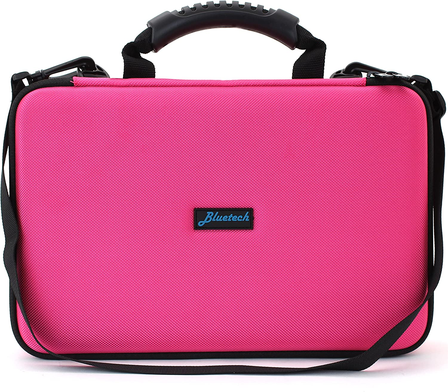 Pink Hard Storage Case for Cards Against Humanity Card Game with Removable Shoulder Strap B4-CARDCASEPNK Bluetech Extra Large