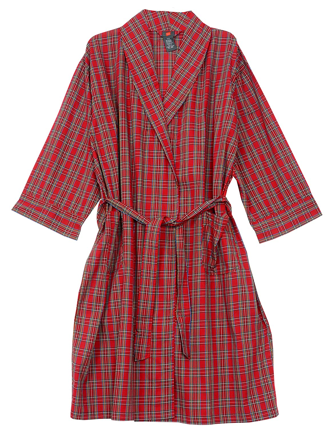 Davis Hanes Big and Tall Light Weight Plaid Robe