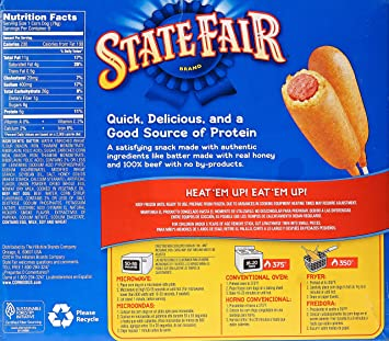 State Fair, Beef Corn Dogs, 8 ct (frozen): Amazon.com: Grocery & Gourmet Food