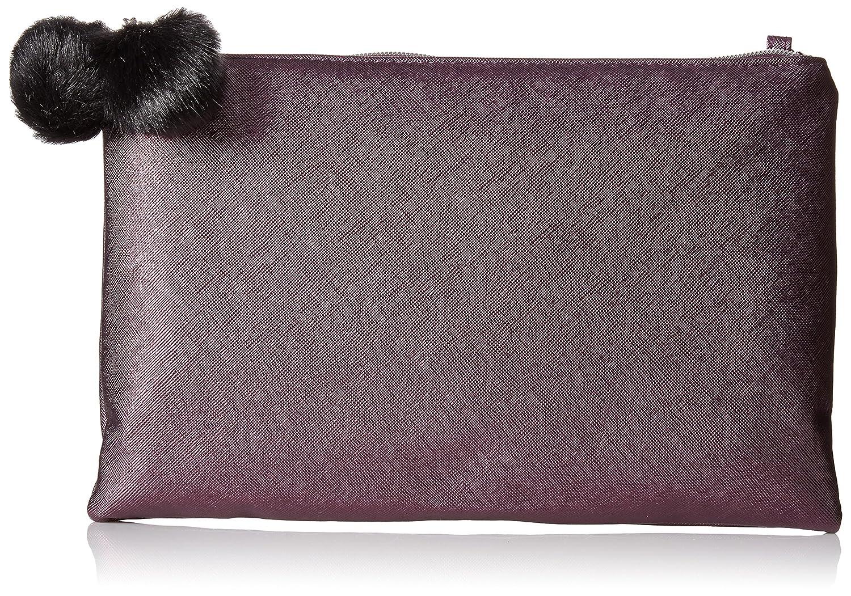 4ef8a4fc5 Jessica McClintock Dylan Pom Top Zip Clutch, Purple: Handbags: Amazon.com