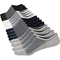M&Z Mens Low Cut No Show Casual Ventilation Fresh Cotton Super Comfy Non-Slip Deodorization Socks 6 Pack Size S M L