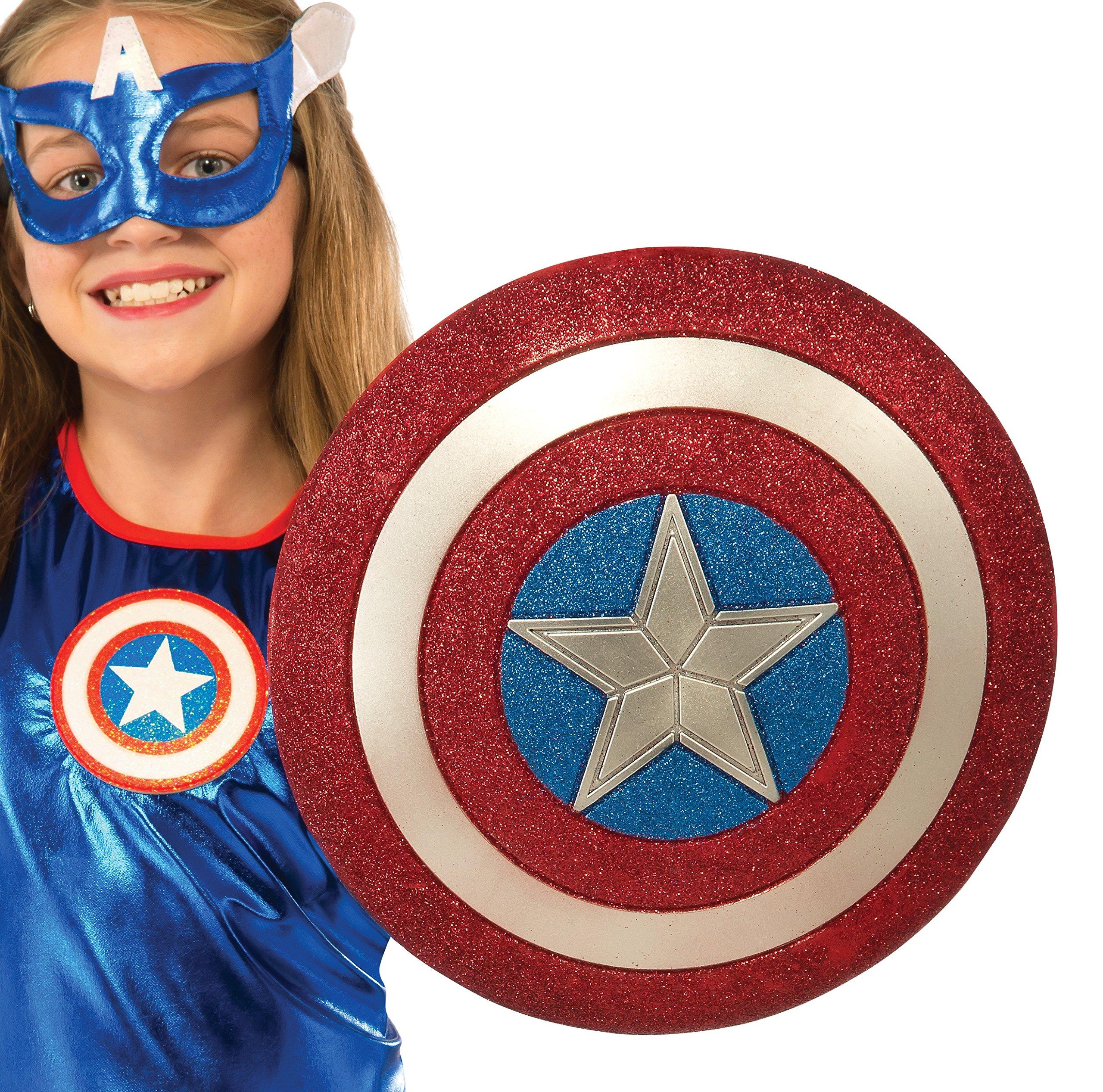 Rubie's Costume Captain America American Dream 12-Inch Glitter Shield Costume