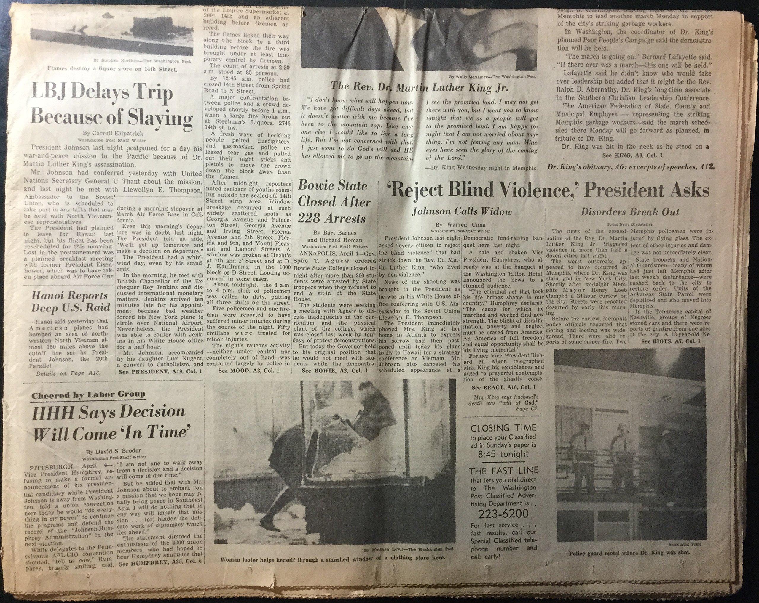 The Washington Post (newspaper), Friday, April 5, 1968