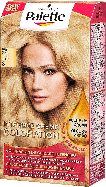 Palette Intense - Tono 8 Rubio Claro - Coloración Permanente ...