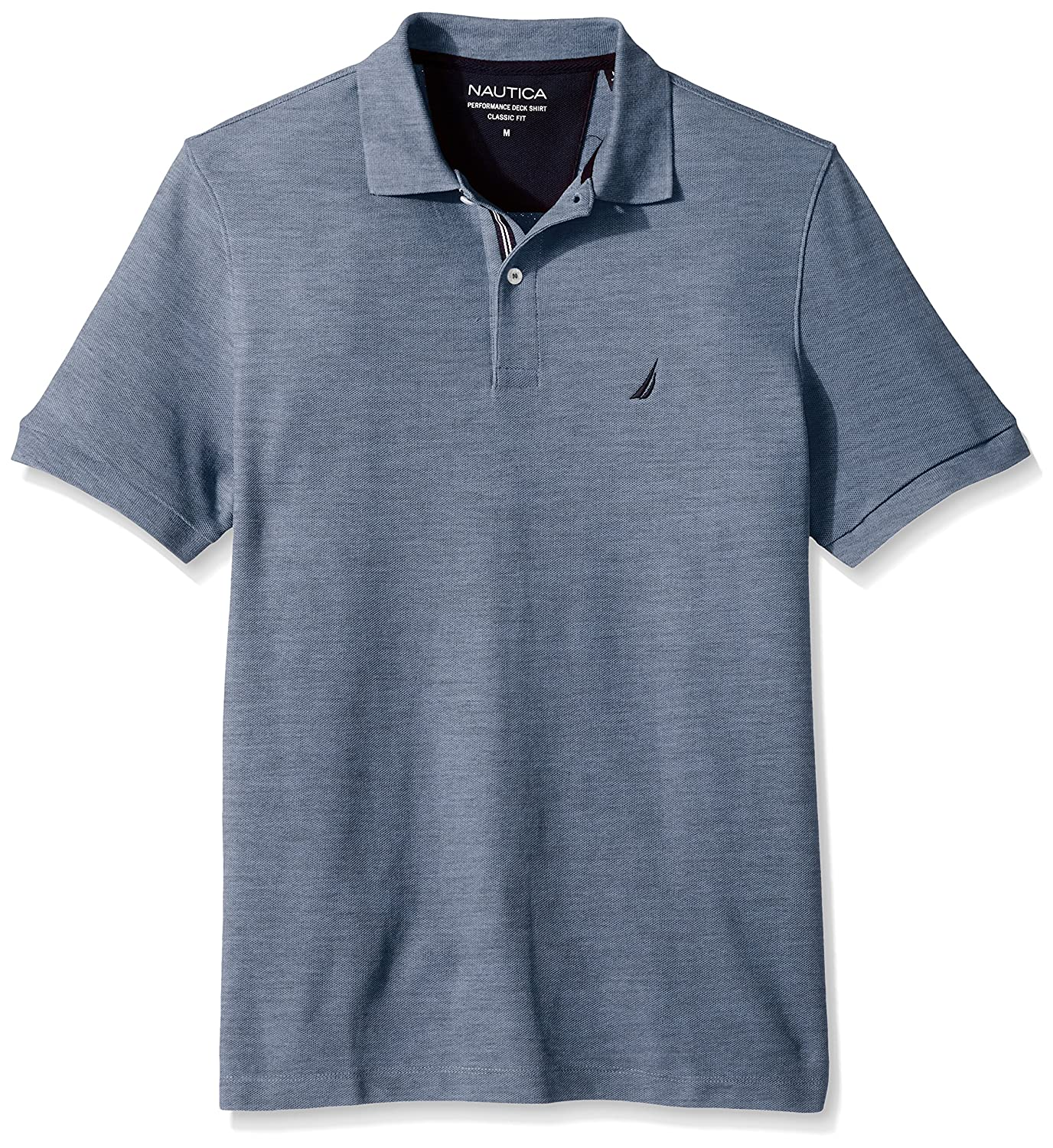 Nautica Mens Classic Short Sleeve Solid Polo Shirt, Deep Anchor ...