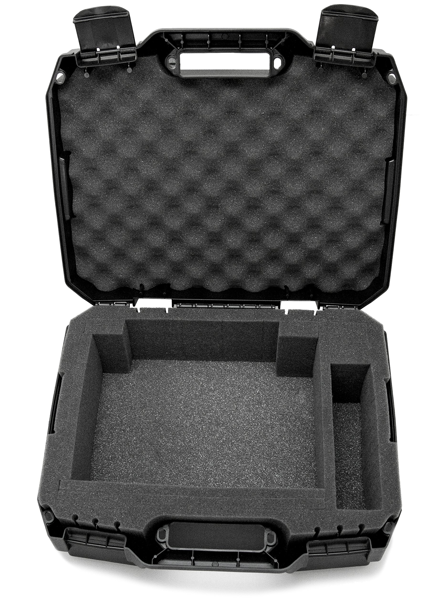 CASEMATIX Projector Travel Case Designed For Viewsonic PA503S / PA503W / PA503X / PG703W / PG703 WXGA XGA SVGA Projectors , HDMI Cable and Remote - Custom Foam Compartment and Hard Shell Protection