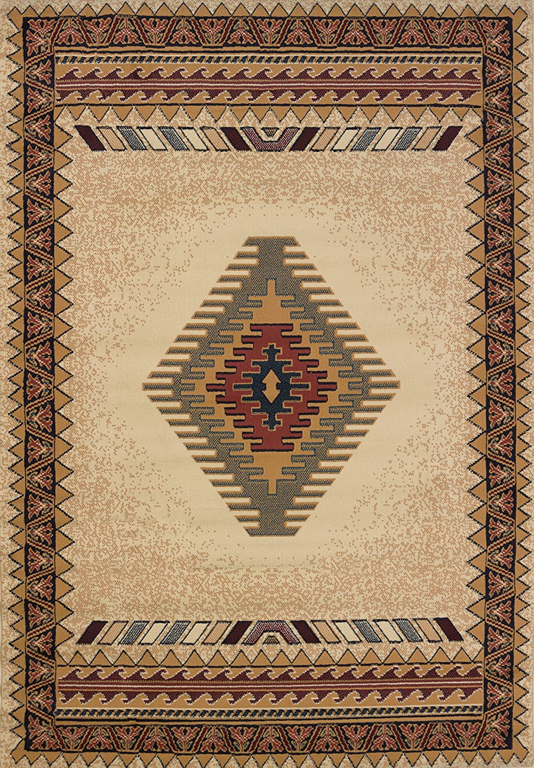 United Weavers Of America Tucson Manhattan Rug Collection 5 3 By 7 6 Cream Furniture Decor