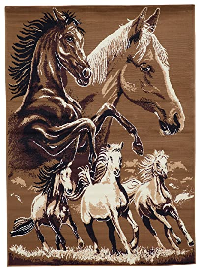 Amazon Com Rugs 4 Less Collection Western Rustic Equestrian Wild