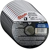 """Milwaukee 10 Pack - 6 Inch Cutting Wheels For Grinders - Aggressive Cutting For Metal & Stainless Steel - 6"""" x .045 x 7/8-Inc"""