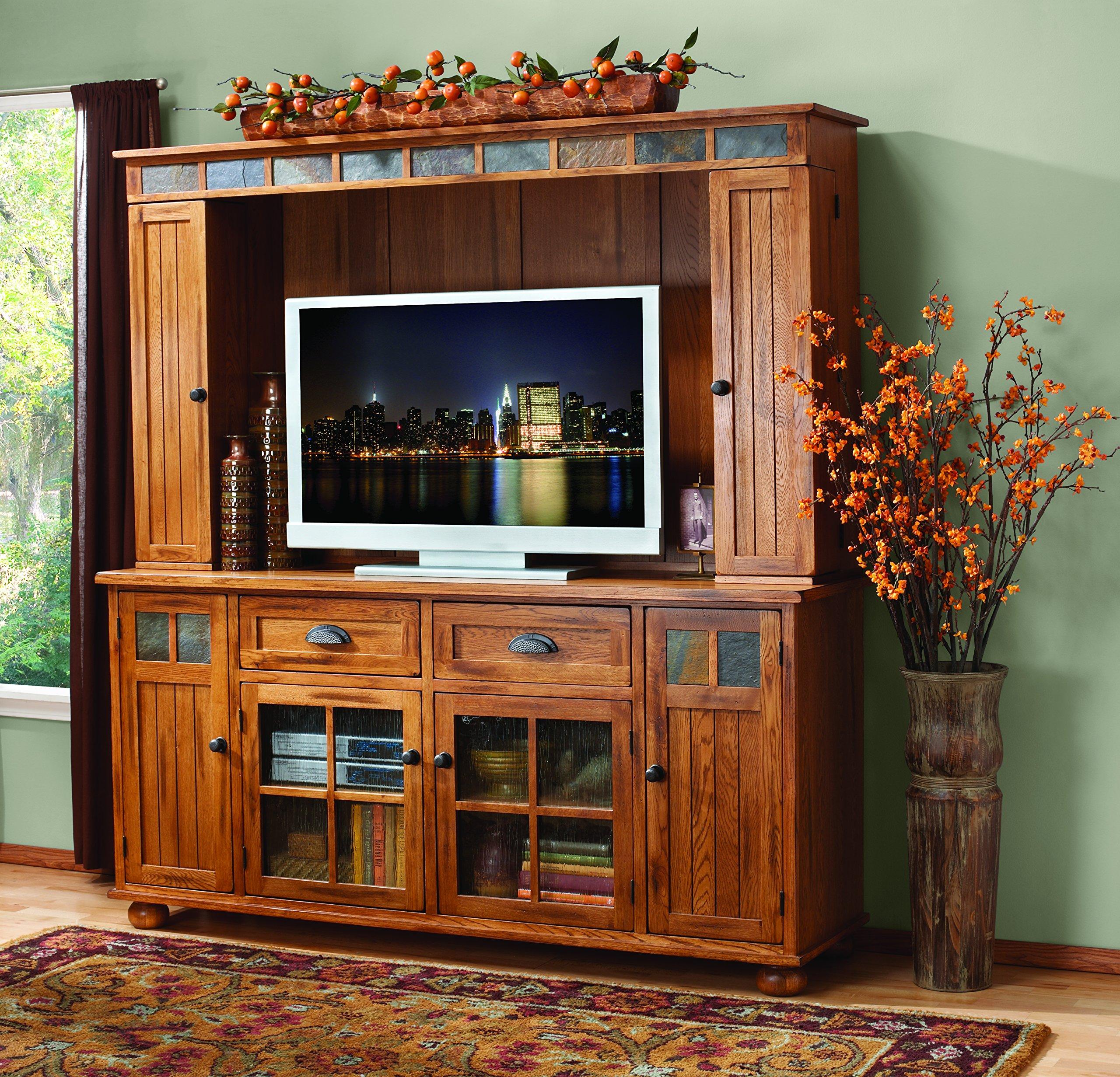 Sunny Designs K3322RO Sedona TV Console with Hutch