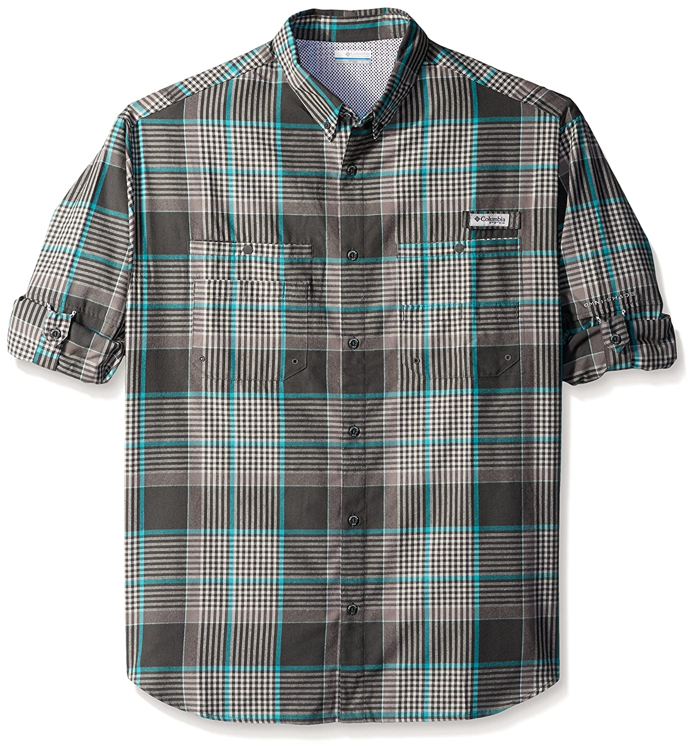 Columbia Men's Tamiami Flannel Long Sleeve Shirt, Grill Plaid, Medium