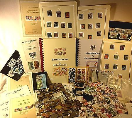 Boemaus500 Überraschungspaket Profi... mit 500 Gramm Münzen, 400 Briefmarken, Lupe, Pinzette und Album...u.v.m.