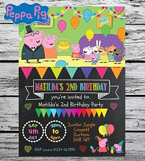 Personal Moments 10 PERSONALISED PEPPA PIG BIRTHDAY PARTY INVITES INVITATIONS KIDS BOY GIRL ENVS Amazoncouk Kitchen Home
