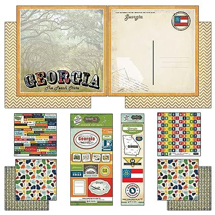Amazon Scrapbook Customs Themed Paper And Stickers Scrapbook