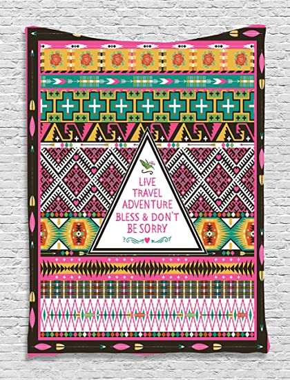Ethnic Tribal Decorations Travel Adventure Boho Hippie Decor Bedroom Living  Room Dorm Wall Hanging Tapestry,