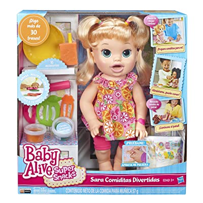Baby Alive Super Snacks Snackin Sara Blonde: Toys & Games
