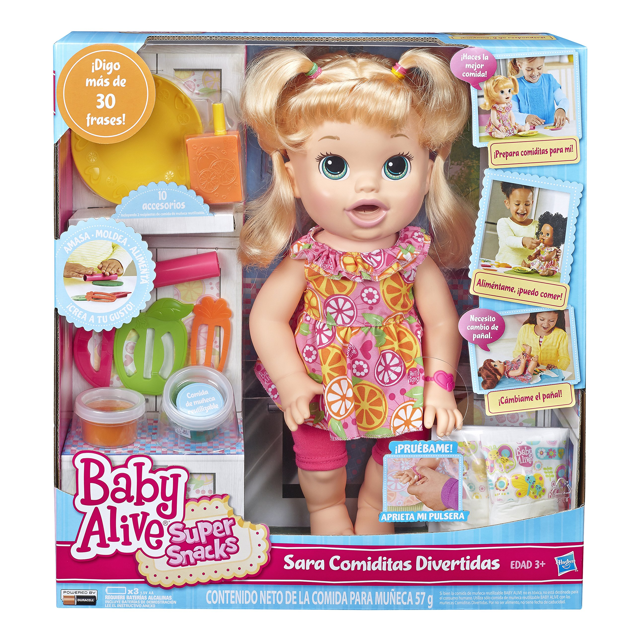 c416b220cf Baby Alive Super Snacks Snackin Sara Blonde