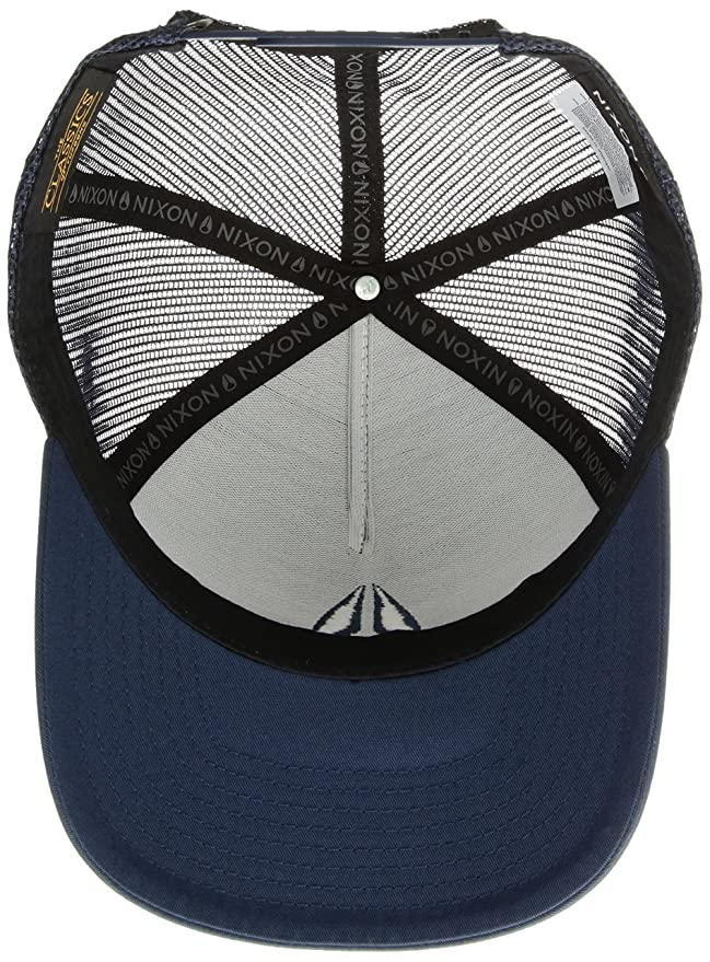 e7d26c45 Amazon.com: NIXON Men's Iconed Trucker Hat, All Navy, One Size: Clothing
