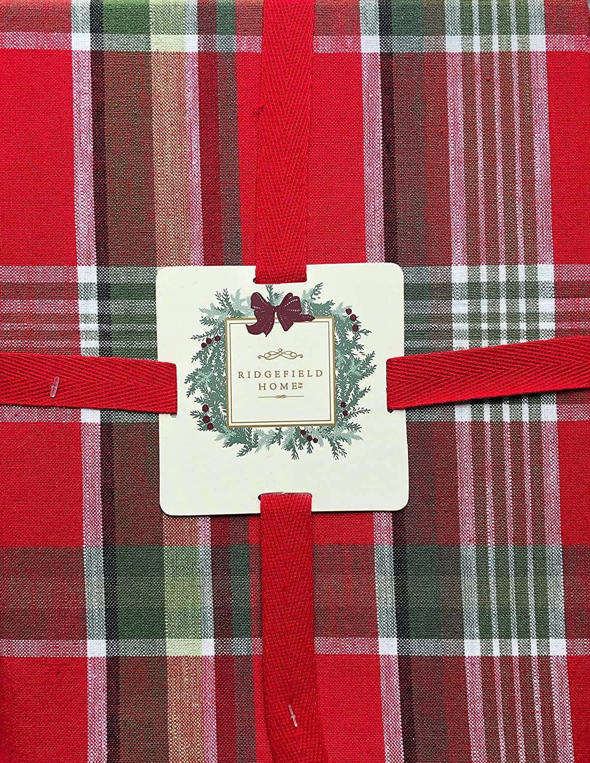 Plaid /& Holly Red Green Christmas Holiday Party Decoration Plastic Tablecover