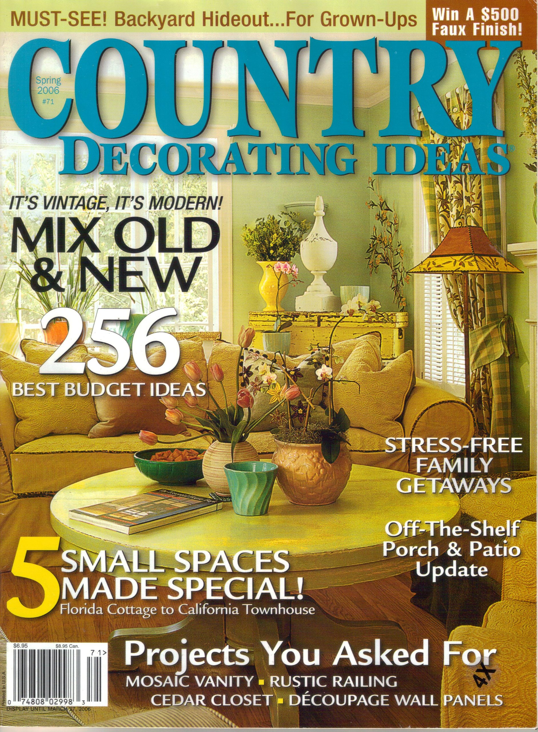 Country Decorating Ideas Magazine Home Design Minimalist