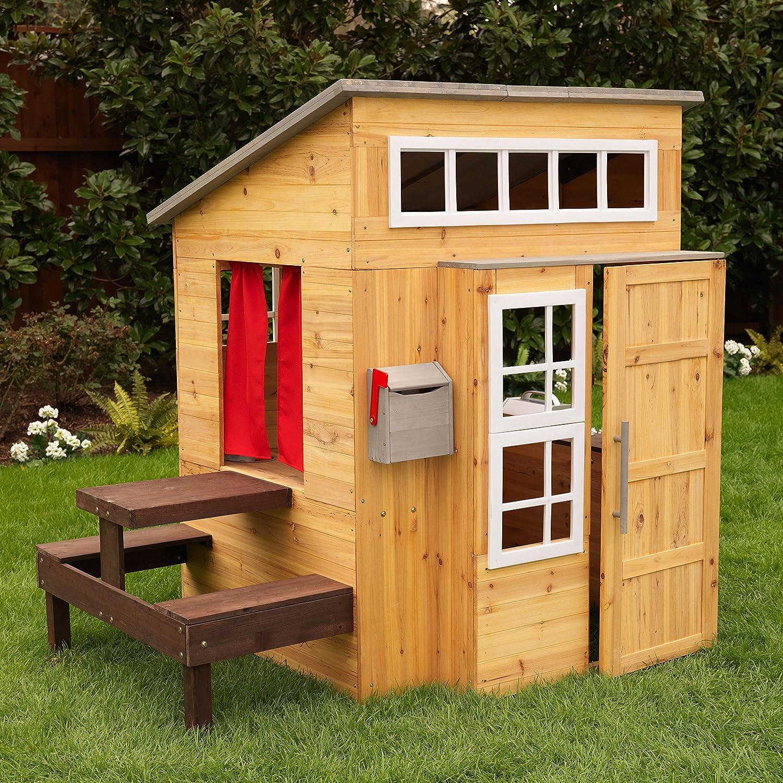 amazon com kidkraft modern outdoor playhouse toys u0026 games
