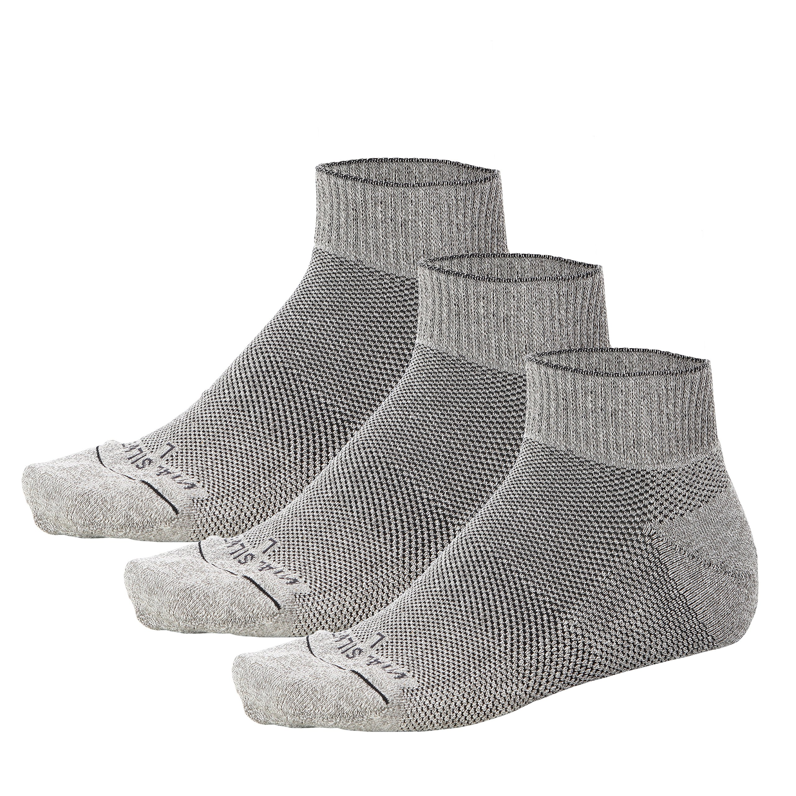 Vital Salveo- Soft Non Binding Seamless Circulation Diabetic Socks- Ankle Short (Large-3 Pairs) by Vital Silver (Image #1)