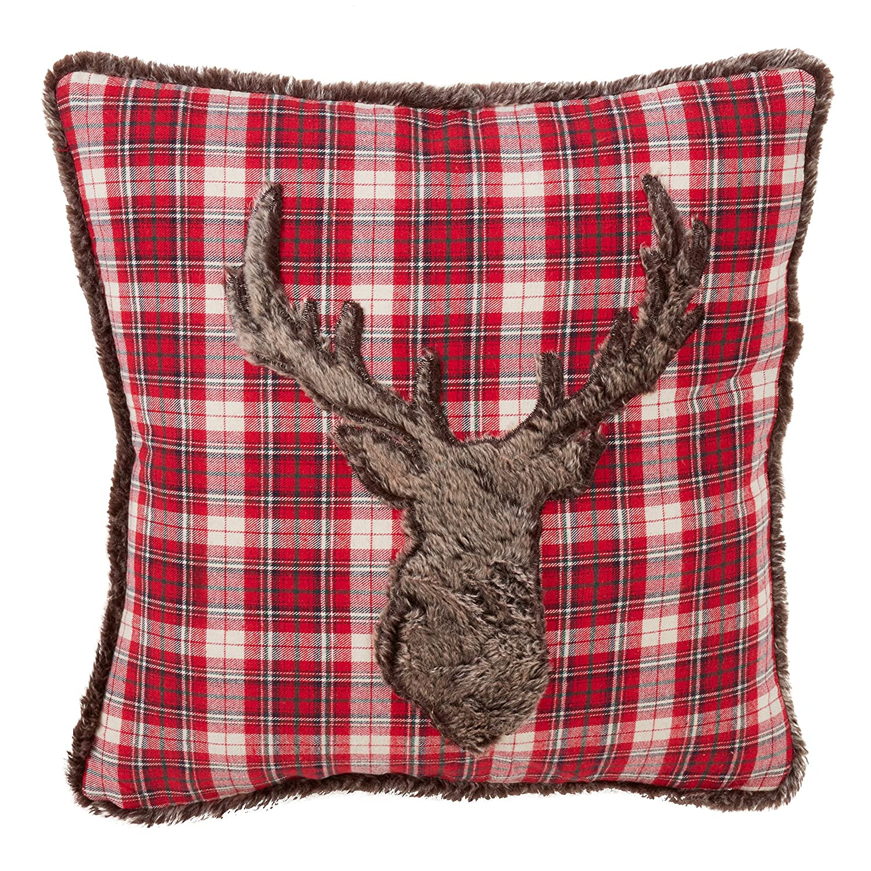 Plaid Christmas Pillows.Amazon Com Saro Lifestyle Lumberjack Collection Red Plaid