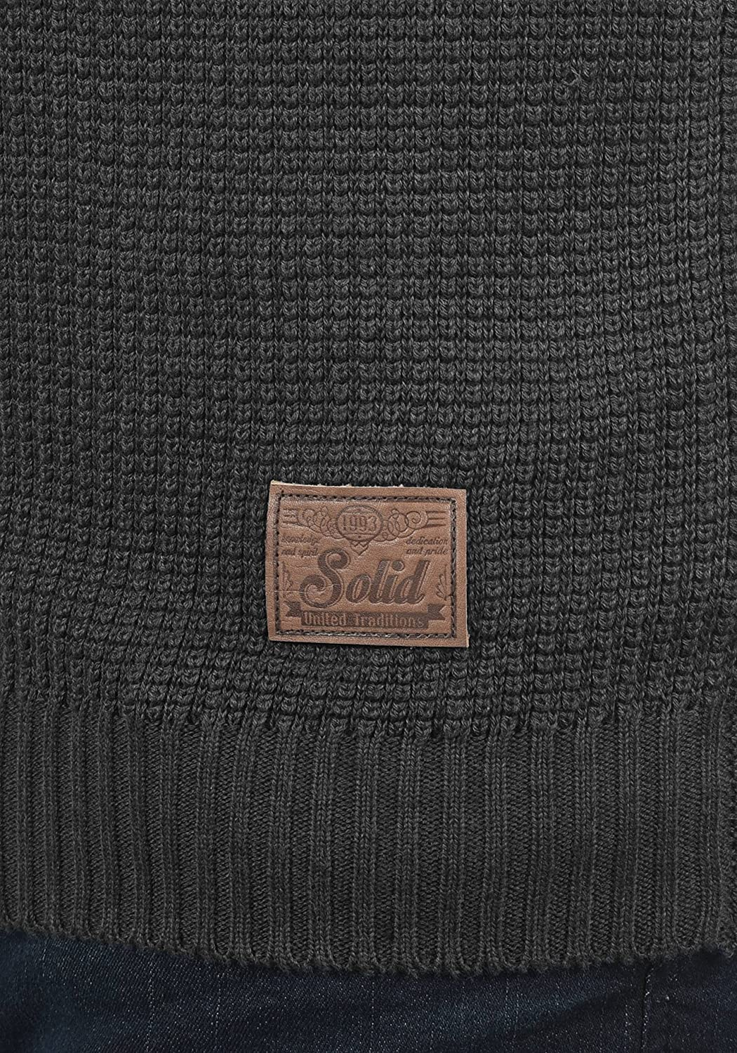 Solid Tyrell Mens Cardigan Knit Jacket with V-Neck