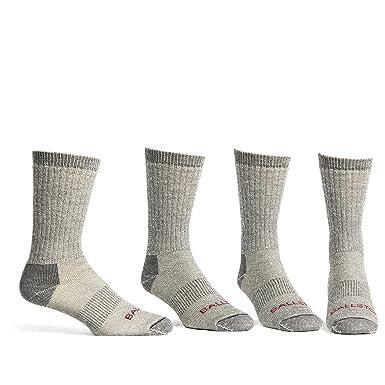 249434ea0 Ballston Lightweight 81% Merino Wool All Season Crew Hiking Socks - 4 Pairs  for Men and Women