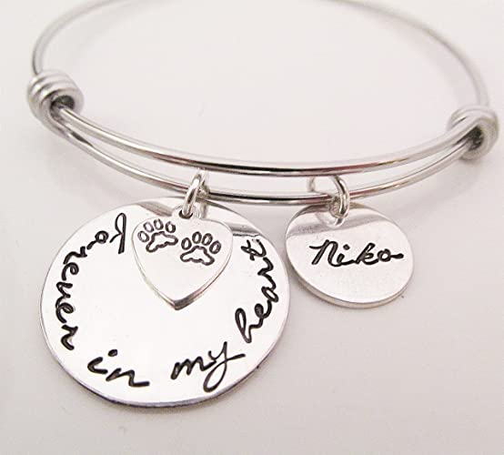 dog print pet etsy remembrance custom paw shop prettytwistedjewelry deals jewelry cat bracelet memorial on