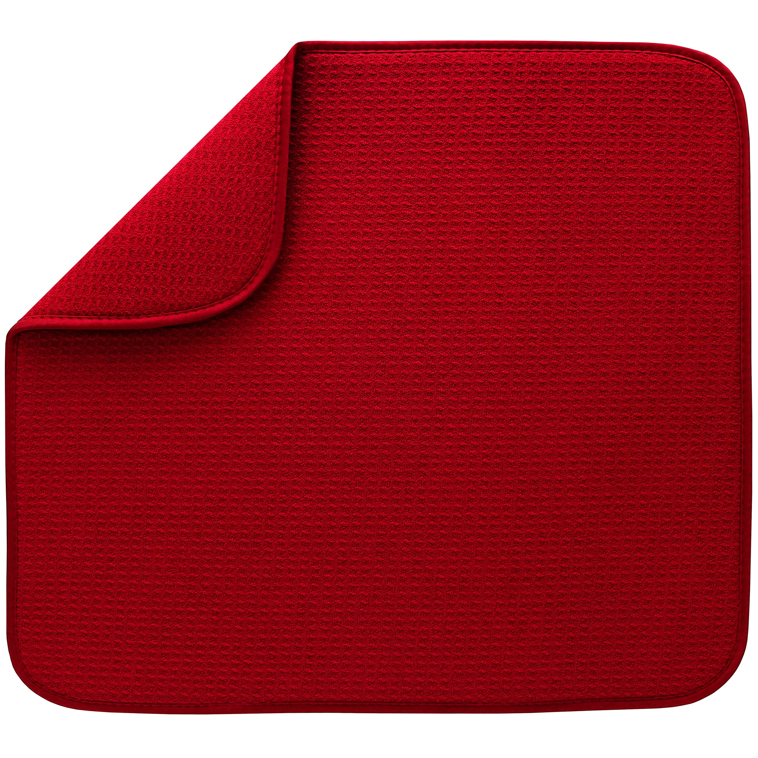 S&T Microfiber Dish Drying Mat, 16'' x 18'', Red by STS