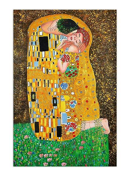 Arte dal Mondo World Art, TWKL040IAT-02, Bacio, Dipinti olio su tela ...