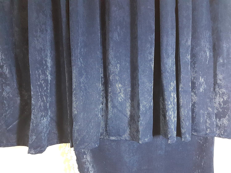 tama/ño universal para todos los modelos de cami/ón Juego de 5/piezas de cortinas color azul en terciopelo con borlas de color blanco accesorio de cabina