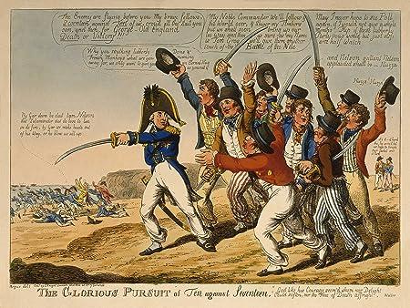 Paintings Drawing Satire Nelson Napoleonic War Uk Art Poster Print