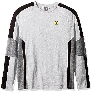 bd03a53ceae926 PUMA Men's Scuderia Ferrari Long Sleeve Top at Amazon Men's Clothing store: