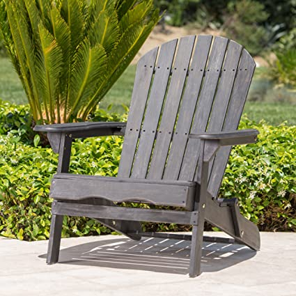 Remarkable Hillary Dark Grey Acacia Wood Folding Adirondack Chair 1 Gamerscity Chair Design For Home Gamerscityorg