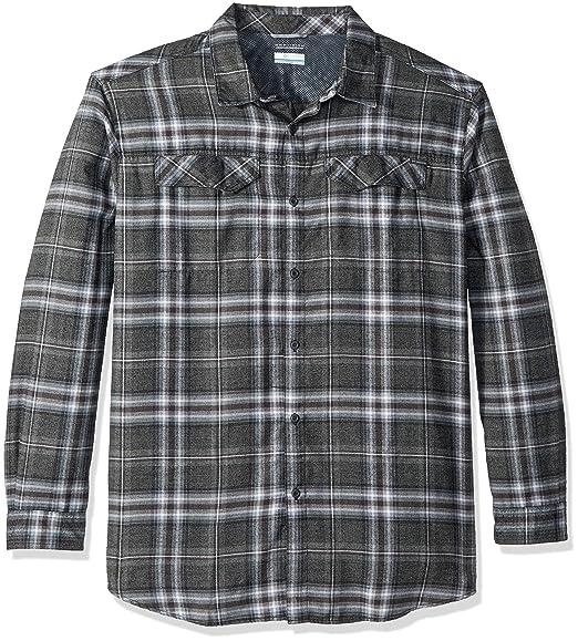 44c402e97d1 Columbia Men's Silver Ridge Flannel Big & Tall Long Sleeve Shirt, Black  Plaid, Large