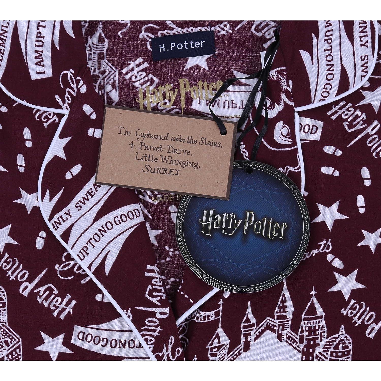 Harry Potter Die Karte des Rumtreibers Hogwarts bedruckter Damen Pyjama 2 tlg Amazon Bekleidung