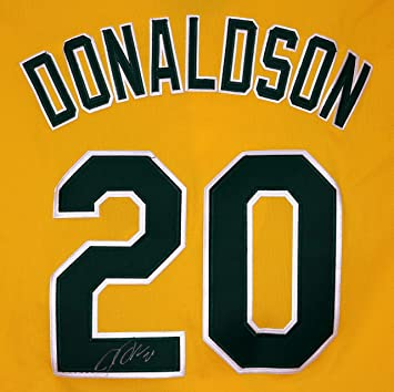 low priced bf18d 8937c Josh Donaldson Oakland Athletics Signed Autographed Yellow ...