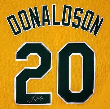 low priced ed246 5ec85 Josh Donaldson Oakland Athletics Signed Autographed Yellow ...