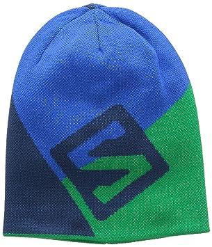 SALOMON Gorro Flat Spin Gorro Reversible, Unión Blue/Real Verde/Azul Blue, Uni, L37556900: Amazon.es: Deportes y aire libre