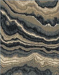 "product image for Orian Impressionist Stone Area Rug, 7'6"" x 9'6"", Indigo"