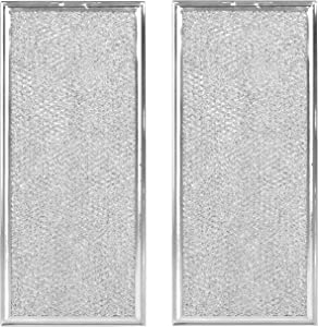 2 Pack W10208631A Microwave Grease Filter Replacement AP5617368 WB06X10596 Compatible with Many GE Microwaves [Packed in Box]