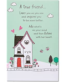 American Greetings A True Friend Birthday Card With Glitter