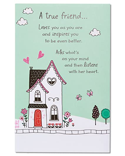 Amazon American Greetings A True Friend Birthday Card With