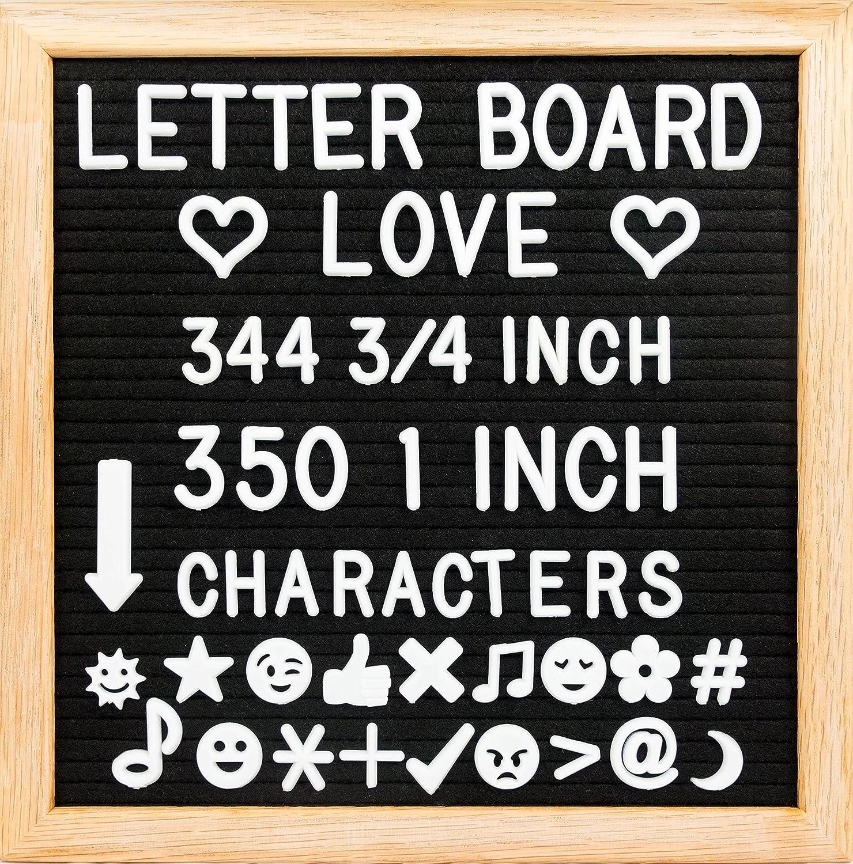 Amazon 10 X 10 Felt Letter Board With Solid Oak Wood Frame